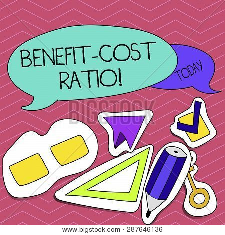 Writing Note Showing Benefit Cost Ratio. Business Photo Showcasing Relationship Between The Costs An