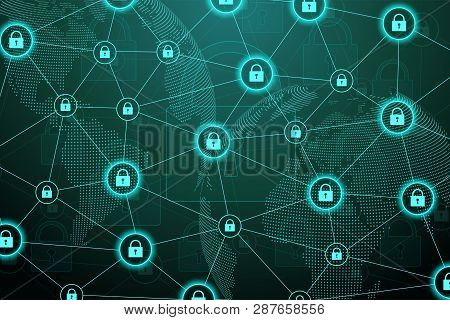 Protection Concept. Data Security System Shield Protection Verification. Cyber Security And Informat