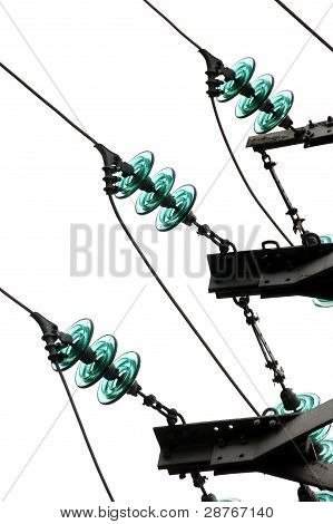 Close-up Of  Wires Of Electricity Pylon