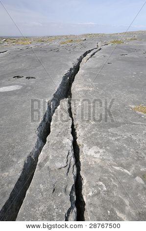 Crack in Limestone Pavement