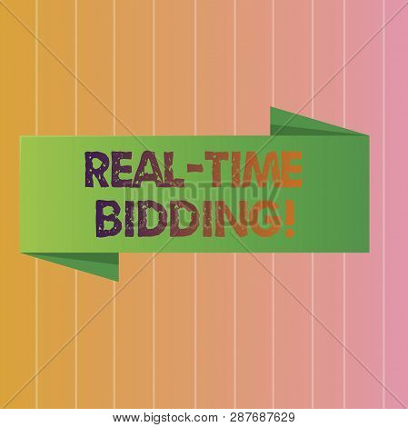 Conceptual Hand Writing Showing Real Time Bidding. Business Photo Text Buy And Sell Advertising Inve