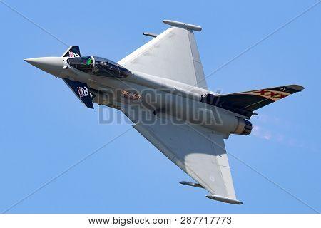 Payerne, Switzerland - September 5, 2014: Royal Air Force (raf) Eurofighter Ef-2000 Typhoon Fgr.4 Zk