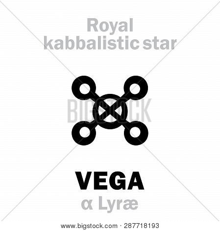 Astrology Alphabet: Vega (alpha Lyrae), Vultur Cadens (the Falling Vulture), Alt.name: Wega. Hierogl