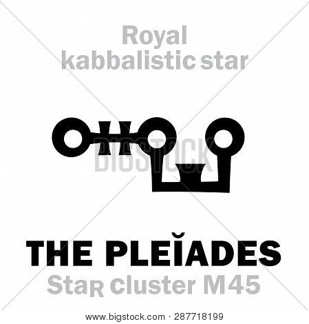 Astrology Alphabet: The Pleiades (star Cluster M45 / Messier 45), Septem Sorores (the Seven Sisters)