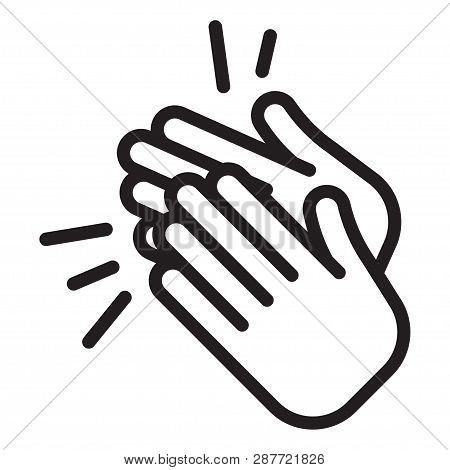 Applause Icon. Clapping Hands, Ovation Cheering Vector Illustration