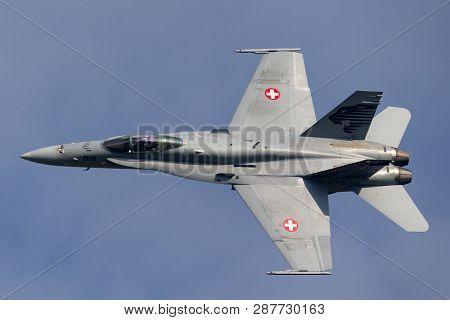 Payerne, Switzerland - September 7, 2014: Swiss Air Force Mcdonnell Douglas F/a-18c Hornet Multirole