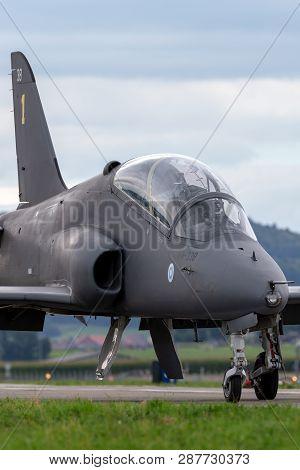 Payerne, Switzerland - August 31, 2014: Finnish Air Force British Aerospace Hawk Mk 51 Jet Trainer A