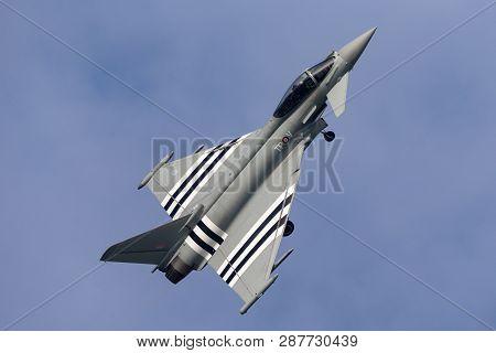 Payerne, Switzerland - September 7, 2014: Royal Air Force (raf) Eurofighter Ef-2000 Typhoon Fgr4 Zk3