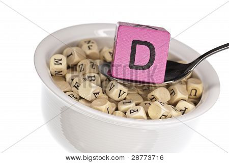 Vitamin-rich alphabet soup featuring vitamin d