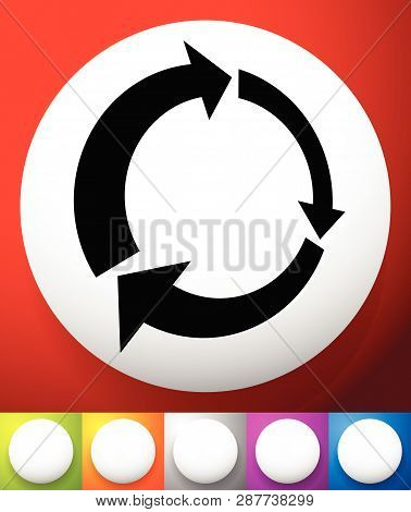 Icon With Circular Arrow - Revise, Centrifuge, Synchronize Concepts