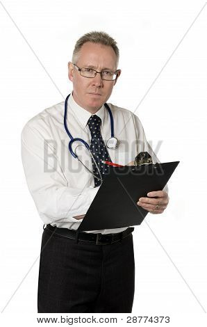 Male Doctor Isolated On White