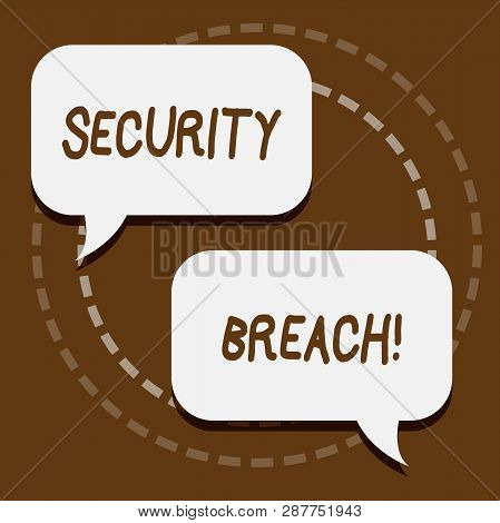 Text sign showing Security Breach. Conceptual photo Unauthorized access to Data Network Applications Devices. poster