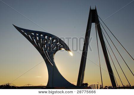 Millenium Bridge And Artwork