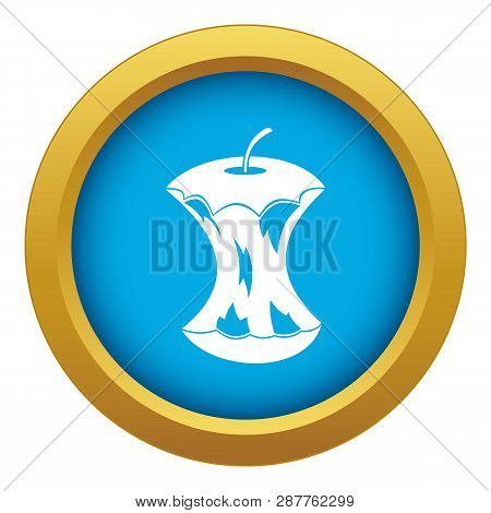Apple Core Icon Blue Vector Isolated On White Background For Any Design