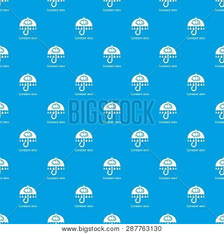 Constant Rain Pattern Vector Seamless Blue Repeat For Any Use