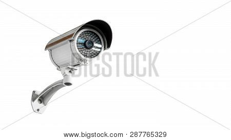 Cctv Security Camera Concept - Cctv Surveillance Security Camera Video Equipment On Wall Of Tower Or