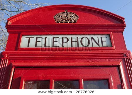 Red Telephone Box In London