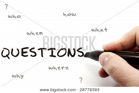 Questions Of Six On Dry Erase Board