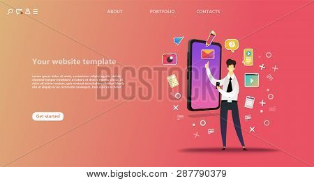 Business Landing Page Template. Team Work Landing Page Template. Social Network Landing Page Templat