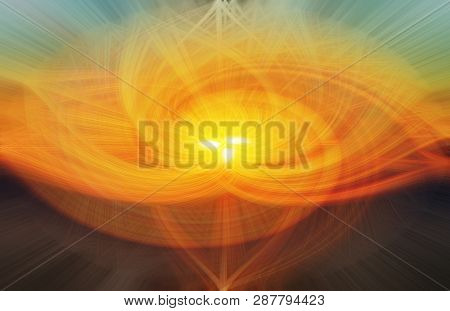 Illustration Made With The Twirl Effect For Backgrounds, Wallpapers And Overlays