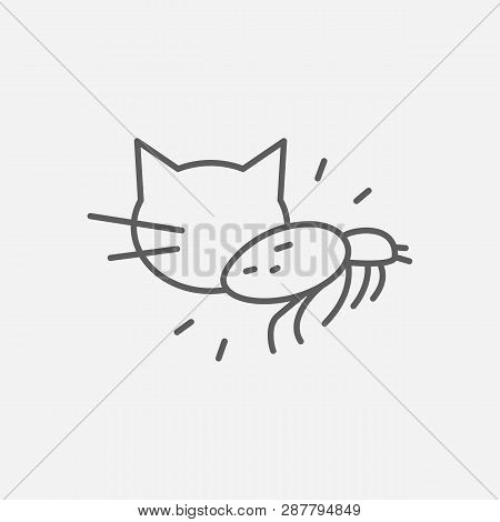 Louse Icon Line Symbol. Isolated Vector Illustration Of  Icon Sign Concept For Your Web Site Mobile