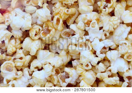 Popcorn Is Very Appetizing For The Background.