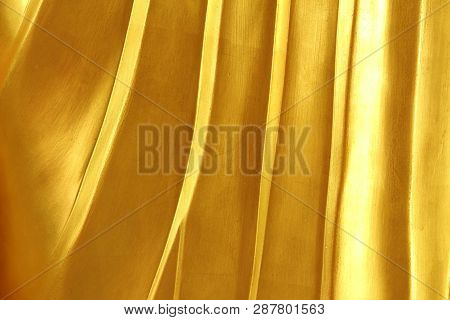 Abstract Surface, Gold, Uneven Skin For The Background