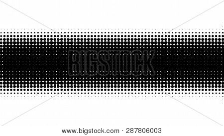Halftone Gradient Pattern. Abstract Halftone Dots Background. Monochrome Dots Pattern. Vector Halfto