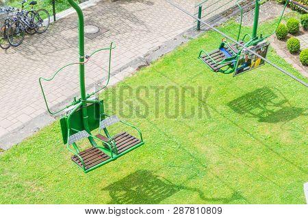 Solingen, Burg, Germany - July 15, 2015:  Chairlift, Schloss Burg Solingen In Orteil Burg. Here Are