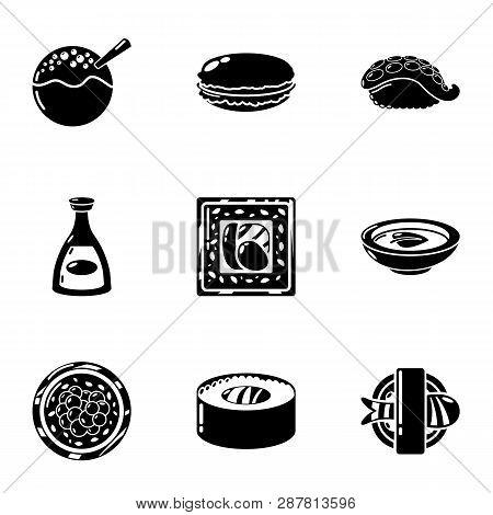 Raw Whitefish Icons Set. Simple Set Of 9 Raw Whitefish Icons For Web Isolated On White Background