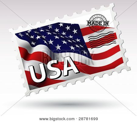 Post stamp Made in USA