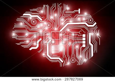3d Rendering Of A Conceptual Image Representing Artificial Intelligence.