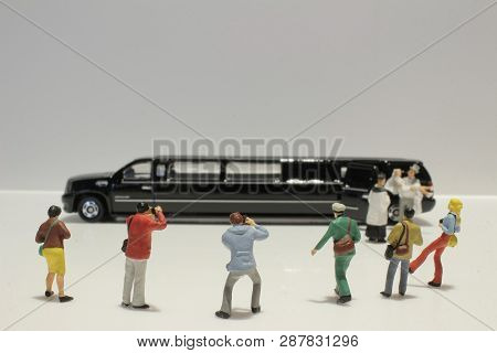 Small Figure Wedding With Car