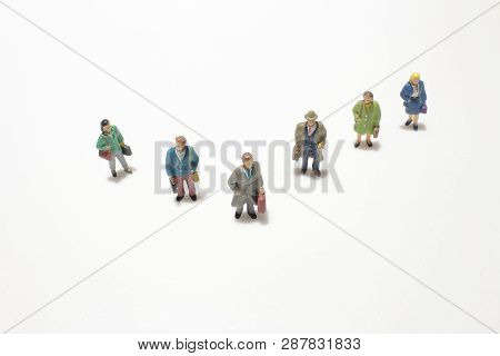Group Of Small Business Figure