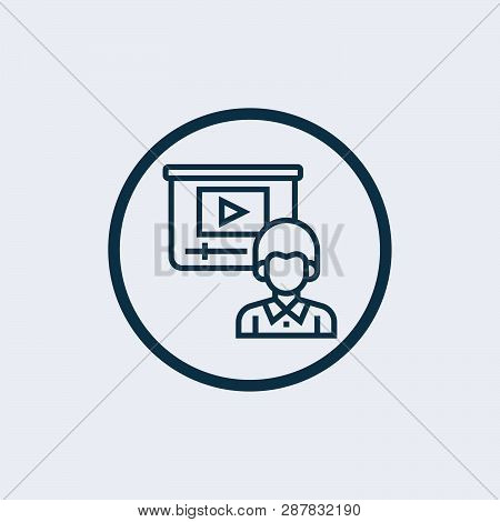 Video Lecture Icon Isolated On White Background. Video Lecture Icon Simple Sign. Video Lecture Icon