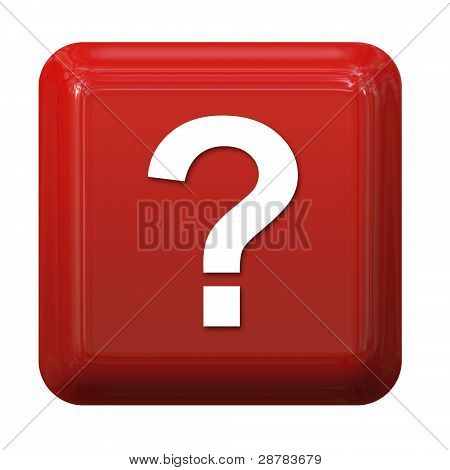 Red question sign button