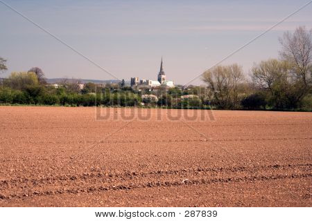 Rural View Of Cathedral