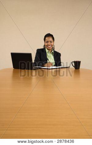 Businesswoman Working.