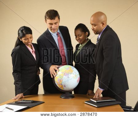 Businesspeople With Globe.