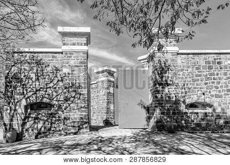 Pretoria, South Africa, July 31, 2018: Entrance Of The Historic Fort Schanskop, Built In 1897. It Wa