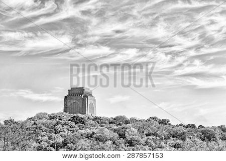 Pretoria, South Africa, July 31, 2018: The Voortrekker Monument, On Monument Hill In Pretoria, As Se