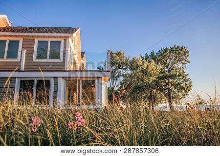Close up beach house