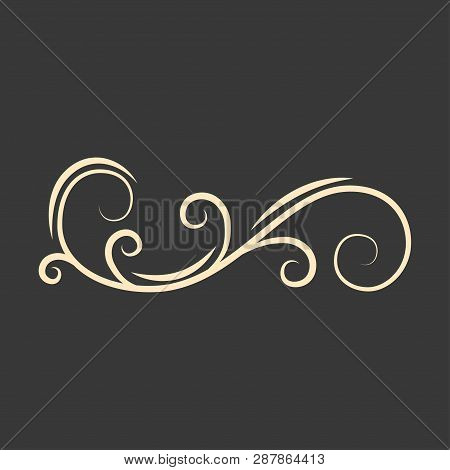 Ornate Frame Element. Vintage And Filigree Decoration. Ornate Frames And Scroll Swirls Element. Fili