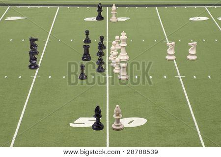 Chess Football 50 Yard Line Play