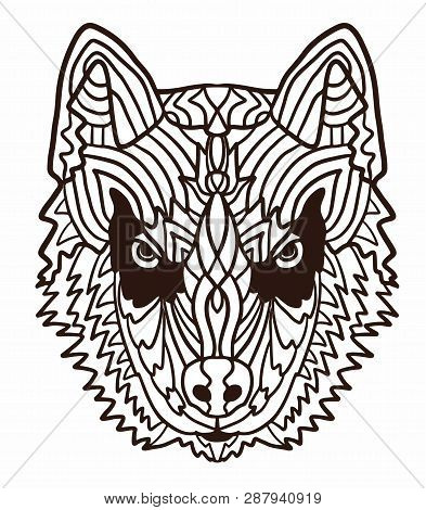 Husky Coloring Pages Idea - Whitesbelfast | 470x393