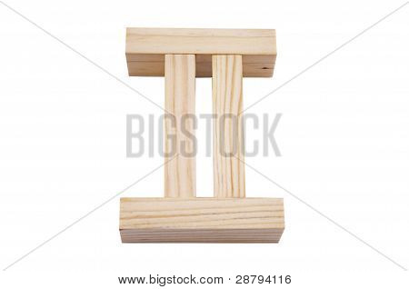 Pi Symbol make a wooden blocks
