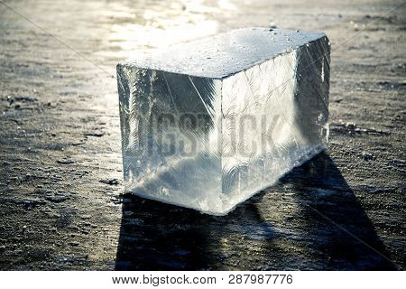 Ice Block Ice Is Water Frozen Into A Solid State. Depending On The Presence Of Impurities. It Can Ap