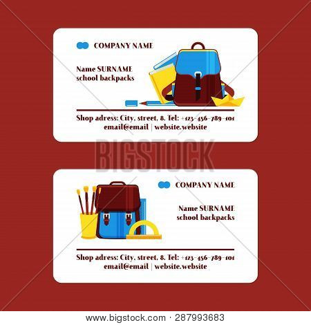 School Supplies Vector Education Schooling Accessory For Schoolchilds Backdrop Educational Stationer