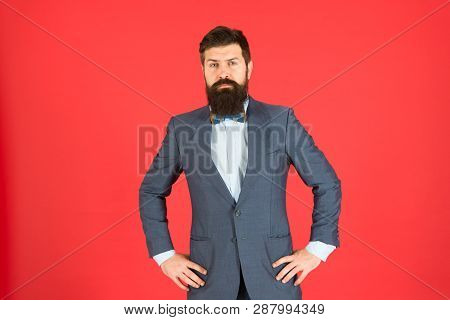 Dress Like A Boss. Business Success. Mature Businessman. Bearded Man Hipster In Jacket. Fashion Look