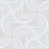 Crazy curves - tangled geometric pattern with pale pastel white colors. White and grey curvy lines. Abstract geo geometric technology background. White and grey shades background. poster